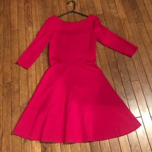 Banana Republic Red Fit and Flare Dress